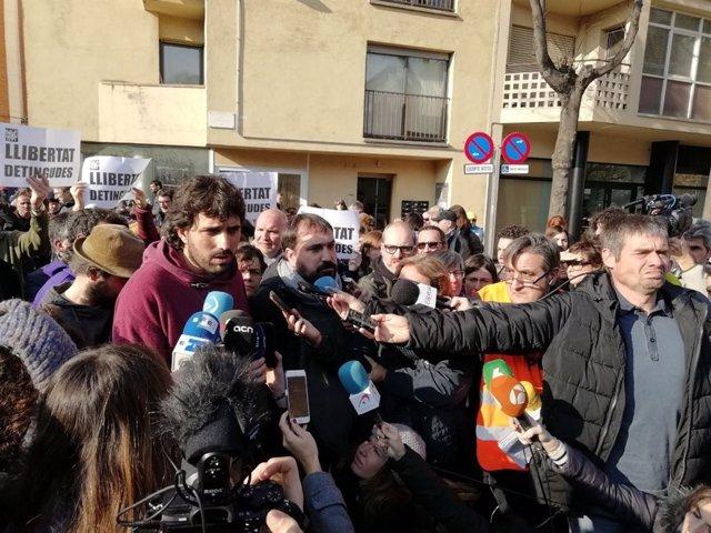Los alcaldes de Verges y Celrà (Girona), Ignasi Sabater y Dani Cornellà (CUP)