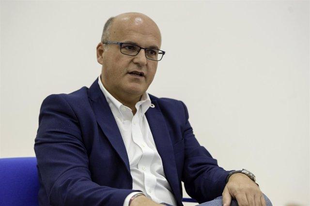 El presidente de la Diputación de Ourense, Manuel Baltar, en una entrevista