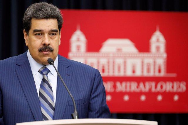 Nicolás Maduro en el Palacio de Miraflores