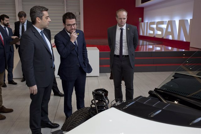 El vicepresidente de la Generalitat, Pere Aragonès, en Nissan Barcelona