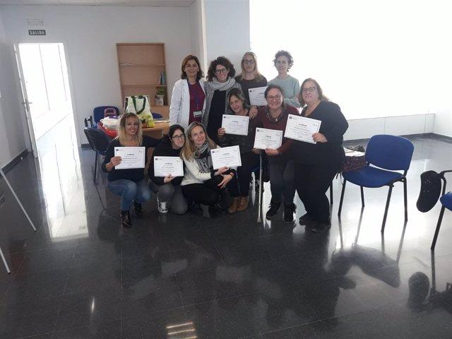 Gruse de once mujeres de la zona sur de Jerez