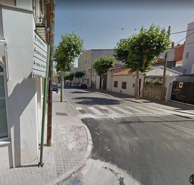 Una calle de Valdilecha