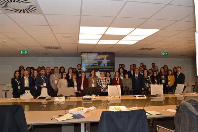 Foto Grupo con presidente y secretaria del consejo general de farmacéuticos
