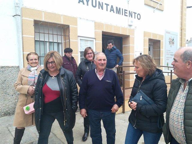 Rosario Cordero visita Gargüera