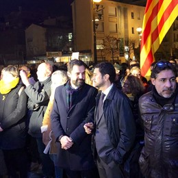 Roger Torrent (pte.Parlament) Damià Calvet (conseller de la Generalitat)