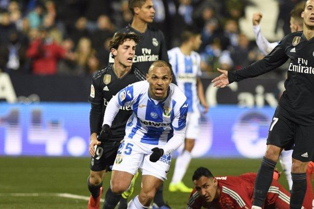 Martin Braithwaite en un Leganés - Real Madrid