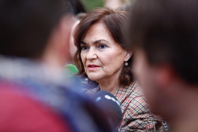Carmen Calvo, este martes en Granada