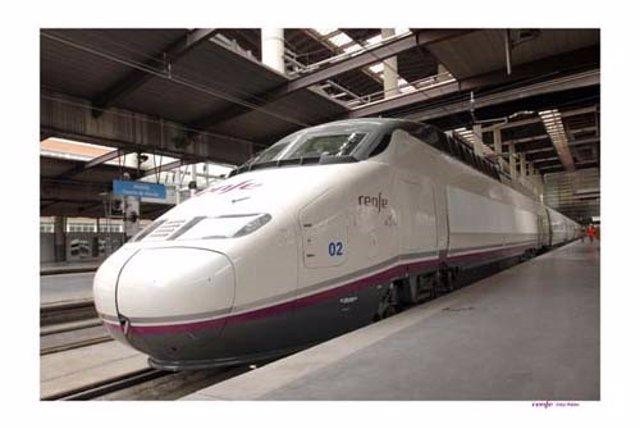 Tren AVE de Renfe de la Serie 100