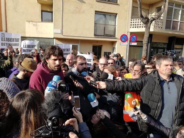 Els alcaldes de Verges i Celr (Girona), Ignasi Sabater i Dani Cornell (CUP)