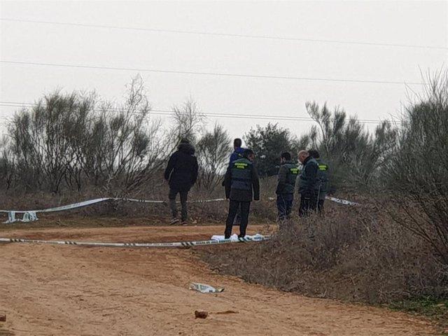 Paraje donde se ha encontrado el cuerpo de una mujer vecina de Villanueva