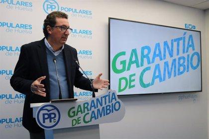 """González dice que """"arranca una etapa histórica de ilusión y despegue"""" para Huelva con el gobierno de Moreno"""