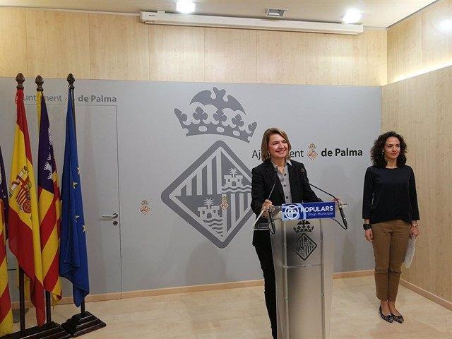 Margalida Durán en una rueda de prensa