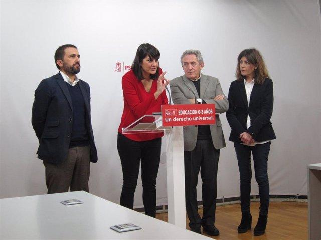 González Veracruz junto con diputados y senadores PSOE por Murcia