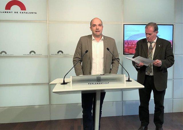 Dputado del PSC Raúl Moreno, alcalde de Sant Adri de Bess Joan Callau