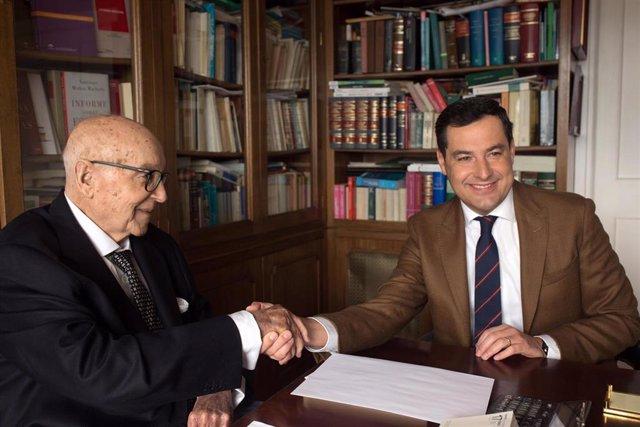 Juanma Moreno y Manuel Clavero, hoy reunidos