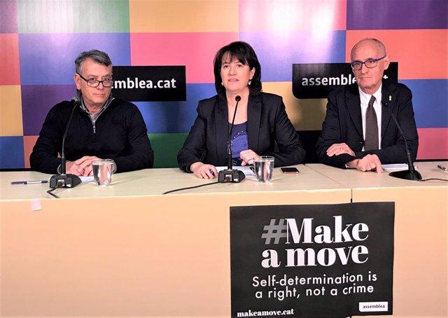 Jaume Bardolet, Elisenda Paluzie, Josep Cruanyes, ANC