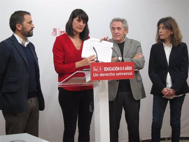 González Veracruz junto a Soto, Oñate y Carmen Baños