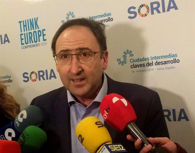 El presidente de la FRMP, Alfonso Polanco. 17-1-2019