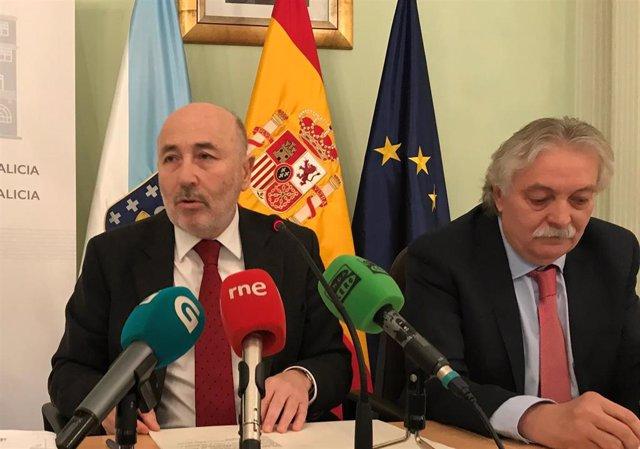 El delegado del Gobierno en Galicia, Javier Losada, en la rueda en Ourense