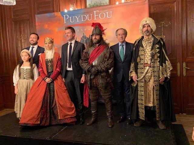Actores de Puy du Fou Toledo, presentación acto en Madrid
