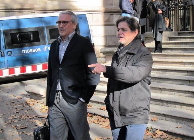 Oriol Pujol i el seu advocat Xavier Melero