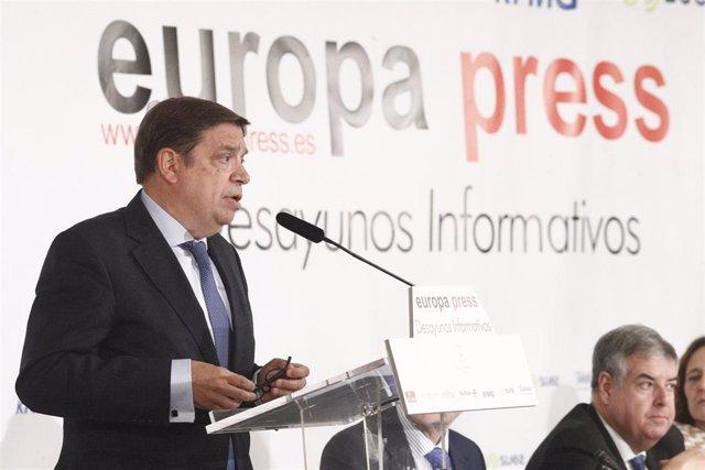 Desayuno Informativo de Europa Press con el ministro de Agricultura, Luis Planas