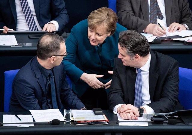 La canciller alemana, Angela Merkel, en el Bundestag