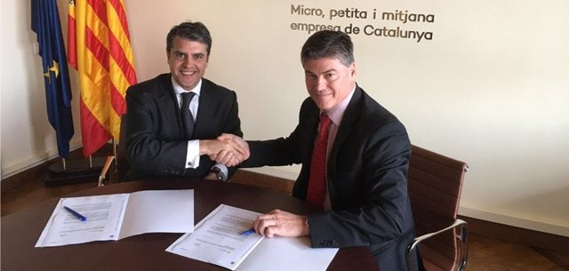 Miguel Capdevila (Bankia) y Antoni Cañete (Pimec)