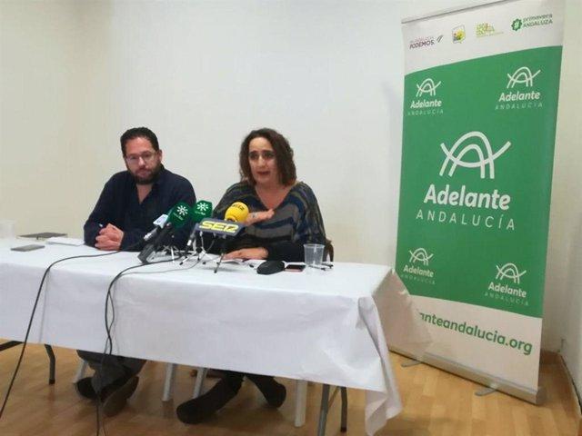 Aguilera y José Ignacio García, parlamentarios de Adelante Andalucía