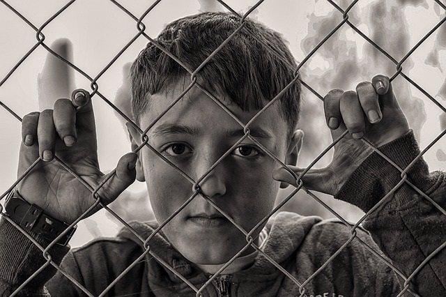 Niño, depresión, triste