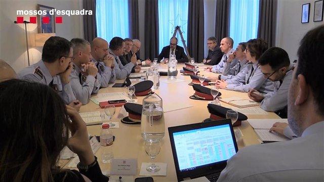 Reunión del Gabinete Antiterrorista de Mossos