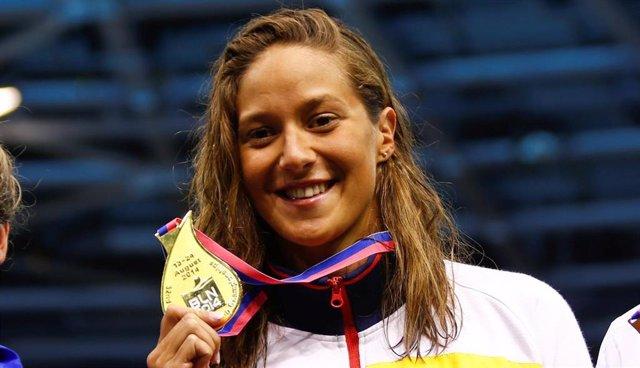 La nadadora española Duane da Rocha, campeona de Europa en 2014
