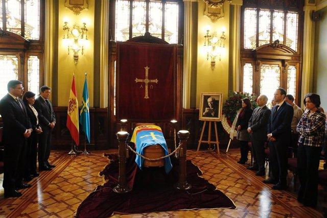 Fotos Capilla Ardiente Expresidente Vicente Álvarez Areces En Junta General
