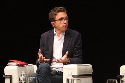 Errejón seguirá en Podemos y mantiene sus planes de impulsar la plataforma de Carmena a nivel autonómico