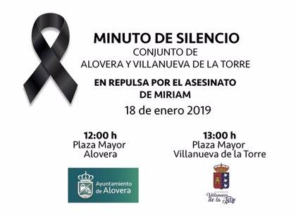 Villanueva y Alovera guardan este viernes un minuto de silencio y decretan tres días de luto