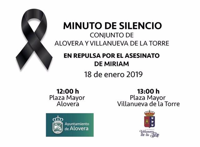 Minuto silencio Alovera y Villanueva