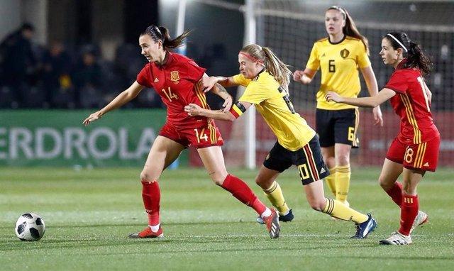 España empata con Bélgica en el estreno de 2019 para la selección femenina