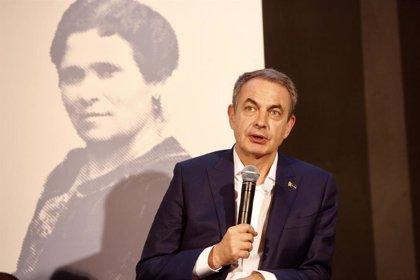 """Zapatero: """"Todas mis esperanzas están puestas en el feminismo, es la idea más avanzada y progresista"""""""