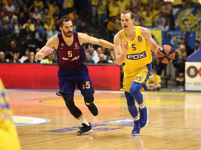 Pau Ribas en un Maccabi - Barça Lassa