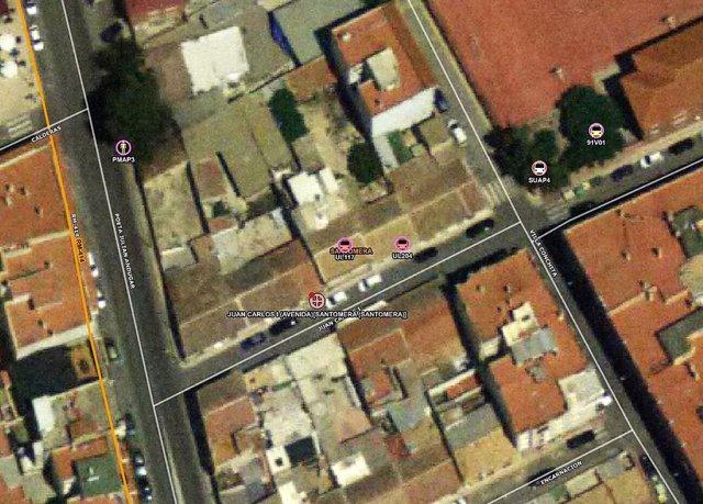 Imagen por satélite del lugar del incendio