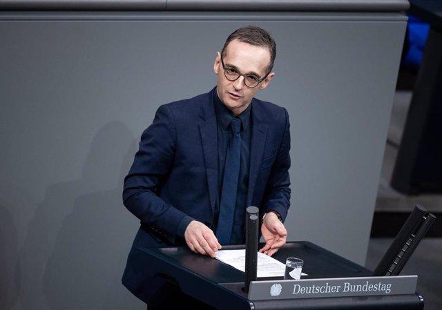 Heiko Maas en la sesión plenaria en el Bundestag