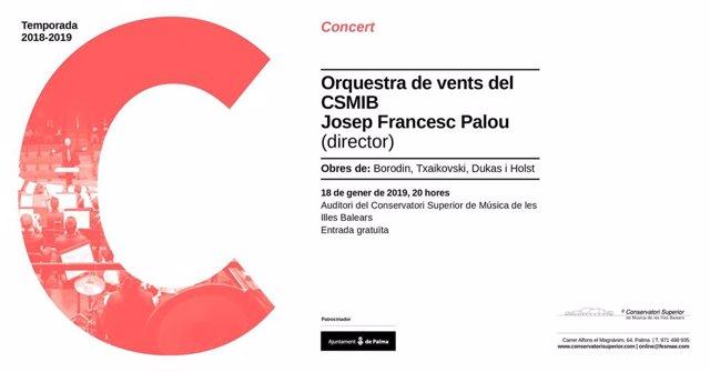 Concierto de la Orquesta de viento en el Conservatorio
