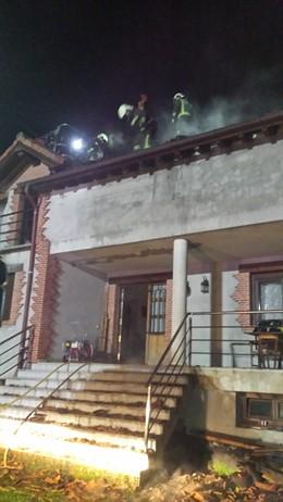 Incendio en la vivienda de Santa María de Cayón