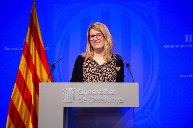 Rueda de prensa en el Palacio de la Generalitat tras el Consejo Ejecutivo