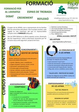 Cartell FAPA Mallorca amb reivindicacions