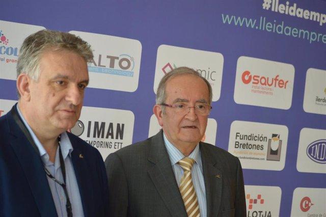 Jaume Saltó y Josep González, en una imagen de noviembre
