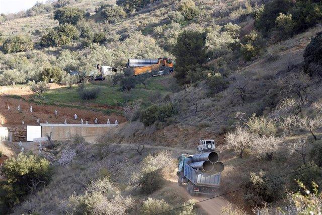 Operativo de rescate de Julen en Totalán acceso vertical