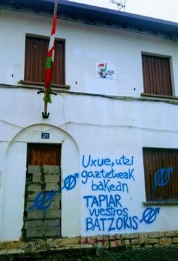 Ataque al batzoki del PNV en Alsasua