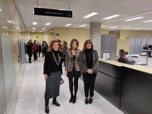 Ester Capella, Lídia Ureña y Núria Marín
