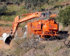 L'operatiu de rescat perforarà el túnel vertical per accedir fins al pou de Totalán (Álex Zea - Europa Press)